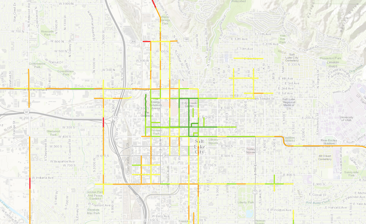 Screen Shot Of Walkability And Measuring Urban Street Design Story Map.