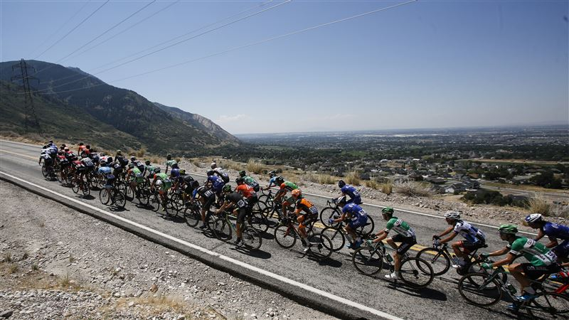 Tour Of Utah Cyclists Climb The North Ogden Divide. Source: Matt Herp Via Standard Examiner.
