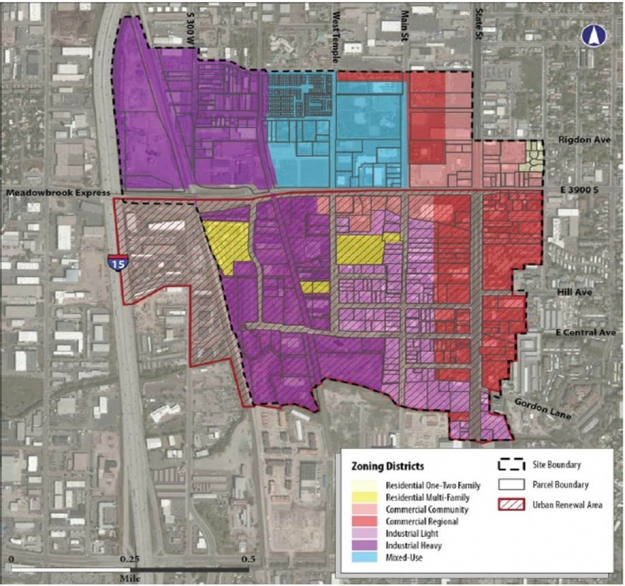 Meadowbrook study area: current zoning.