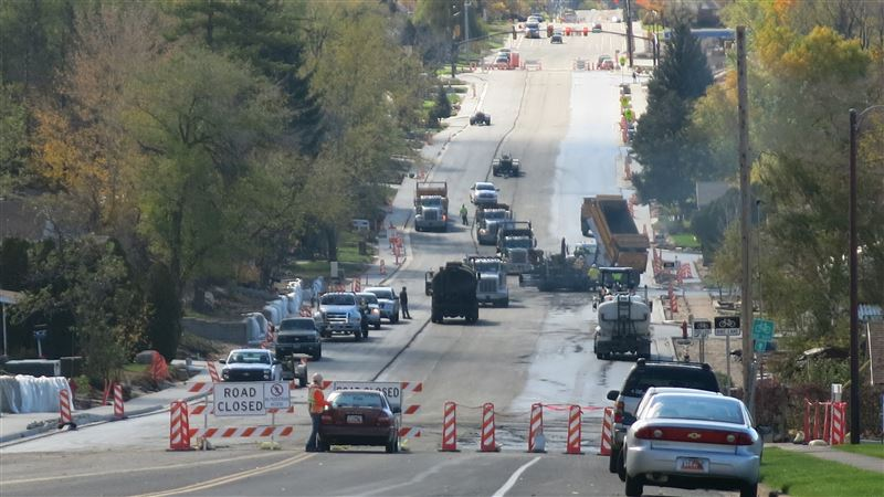 Construction On Harrison Boulevard Near 425 North. Source: Mitch Shaw Via The Standard Examiner.