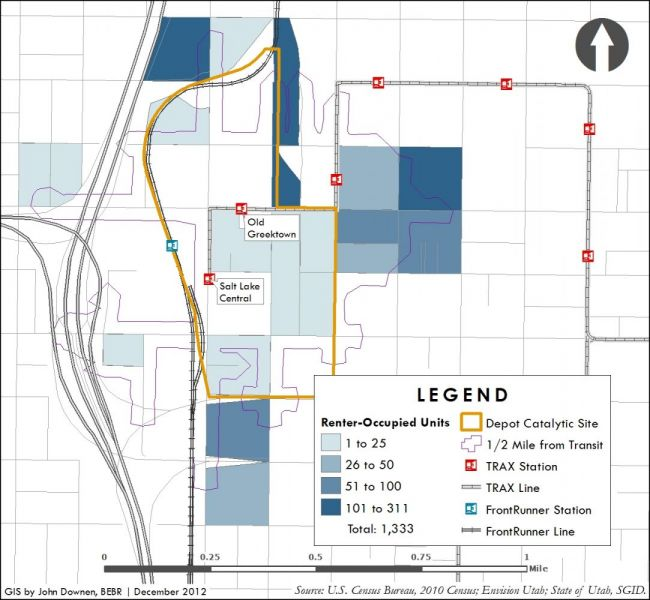 Depot District sample map four.