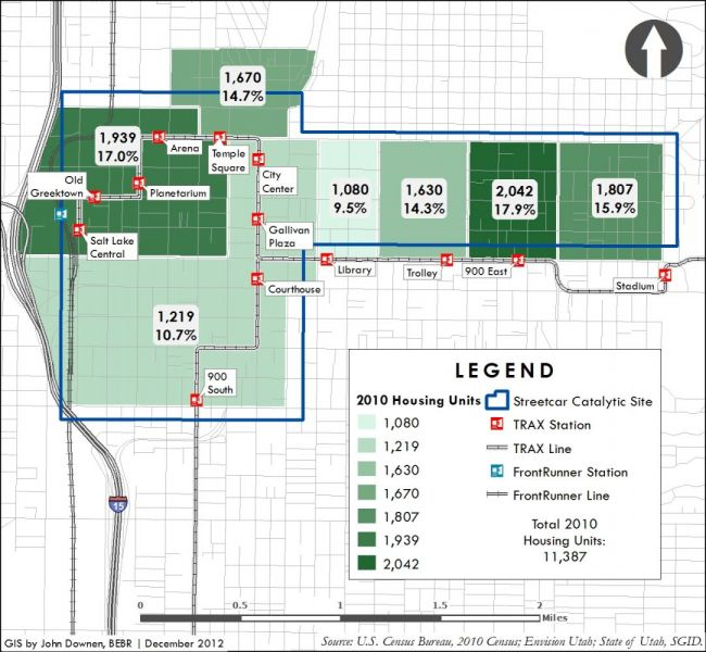 Salt Lake Streetcar sample map one.