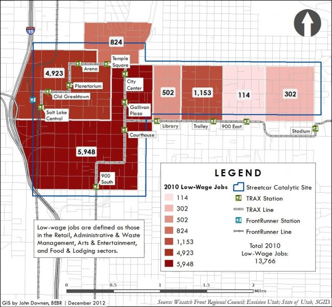 Salt Lake Streetcar sample map two.
