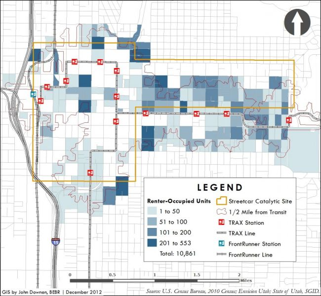 Salt Lake Streetcar sample map four.