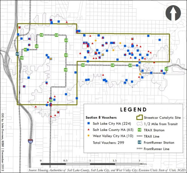 Salt Lake Streetcar sample map seven.