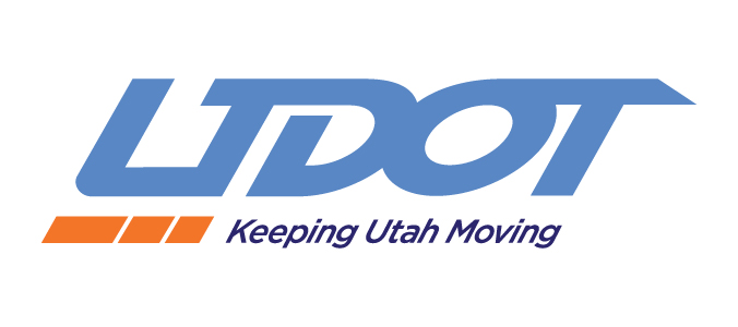 Utah Department of Transportation logo.