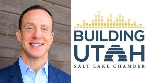 Building Utah Logo And Photo Of Andrew Gruber, Executive Director, WFRC.