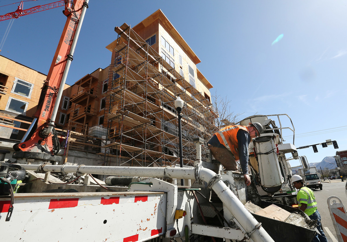 Housing Construction On 400 South And 400 East In Salt Lake City. Photo Courtesy Of Jeffrey Allred Via The Deseret News.