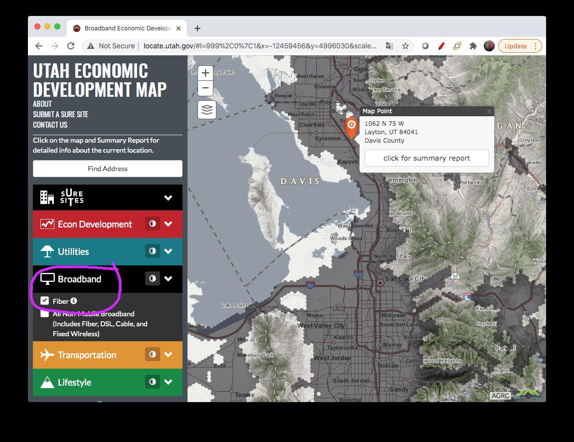 Utah Economic Development Map